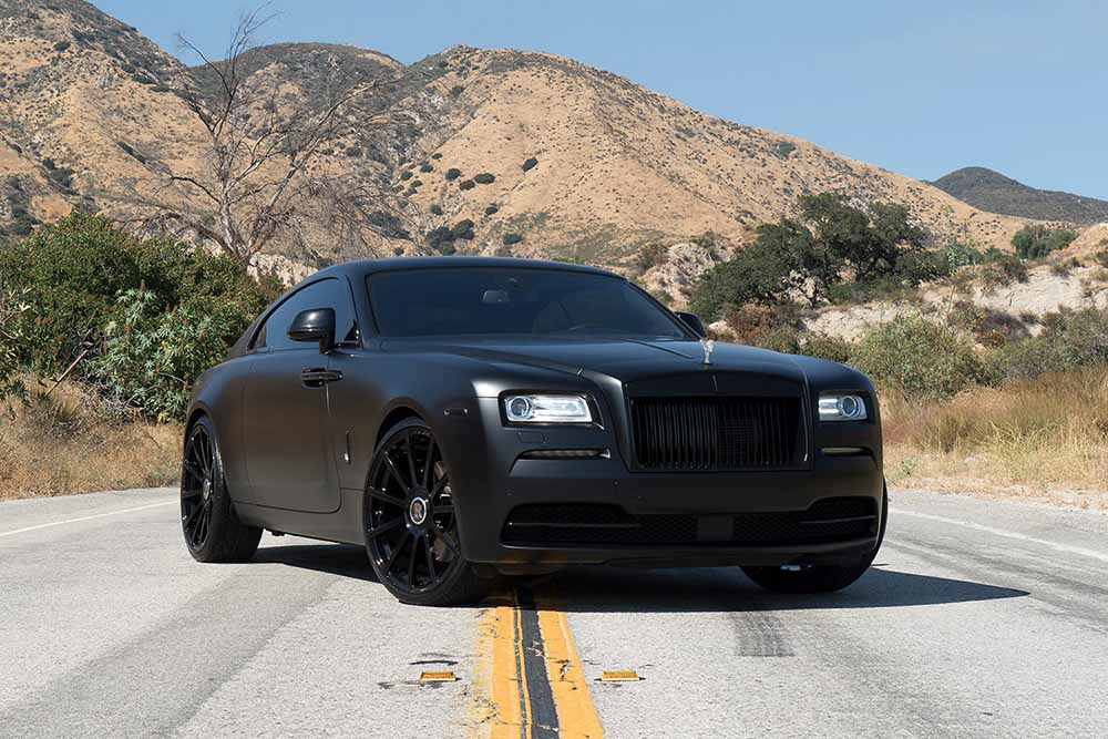 Matte black Rolls-Royce Wraith in Forgiato Wheels ...